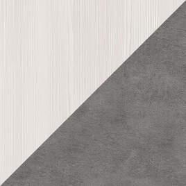 Бодега белая-Бетон серый